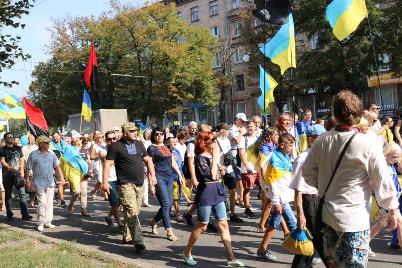В Запорожье состоялась торжественное шествие ко Дню Независимости