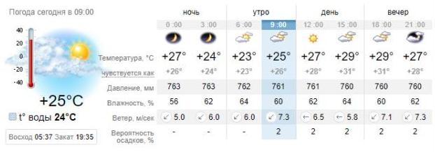 Погода в Бердянске на 21 августа. sinoptik.ua