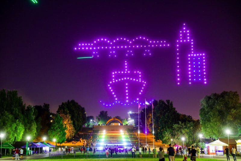 У Запоріжжі — вперше в Україні! - до Дня металурга і гірника показали масштабне шоу дронів