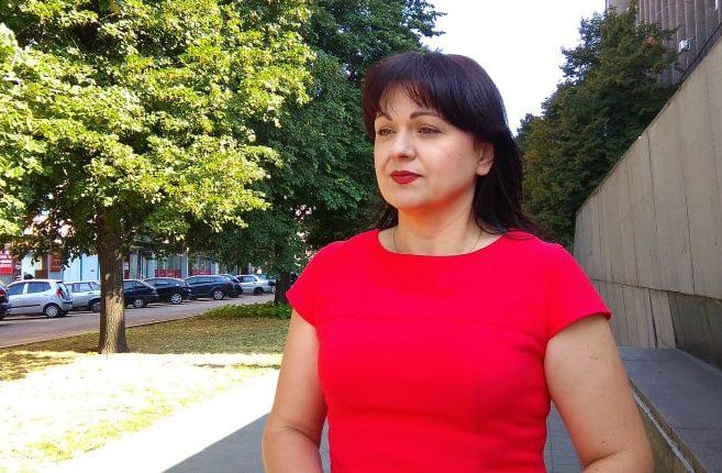 активистка Партии Порядок Наталья Жихарь