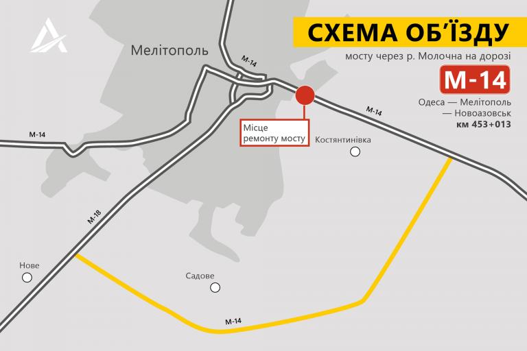 В Запорожской области перекроют трассу: появились подробности и СХЕМА