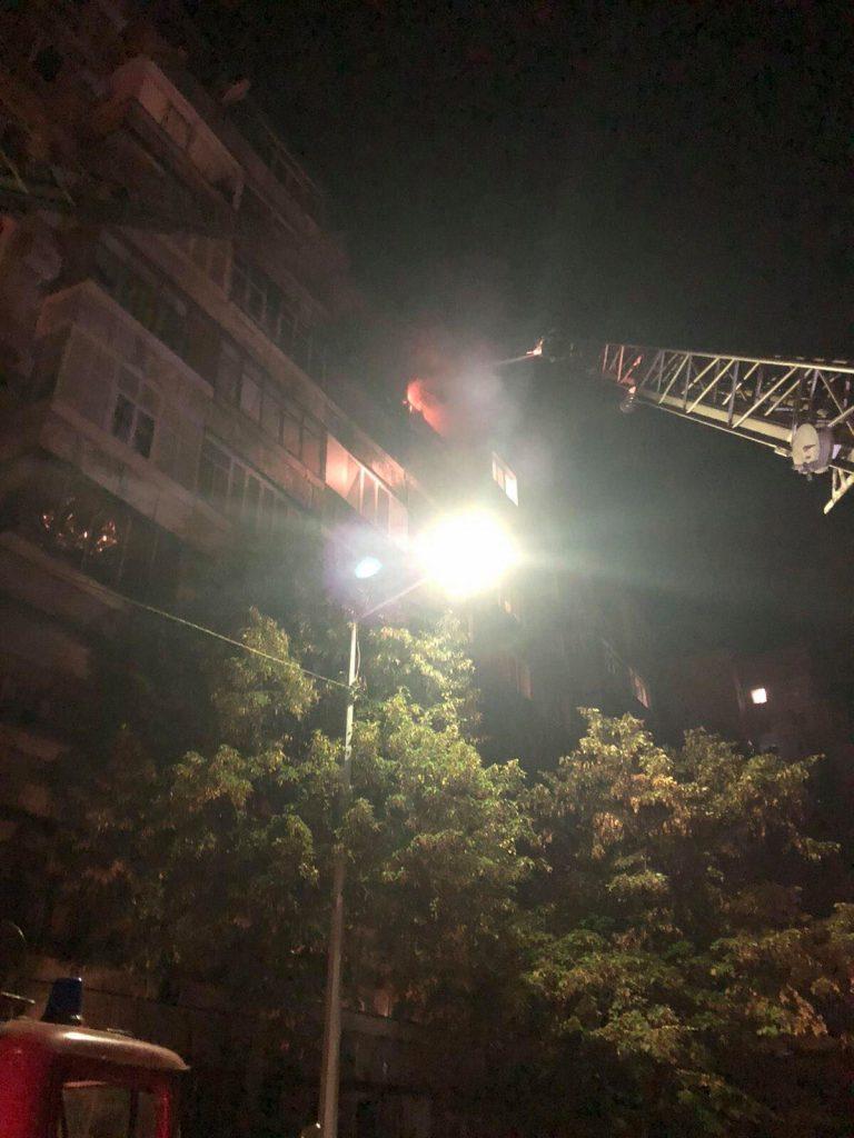 Пожар произошел в Хортицком районе