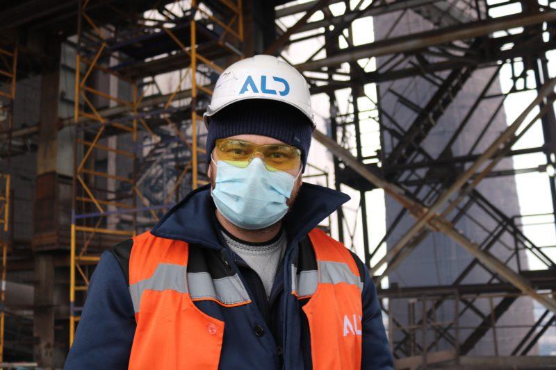 керівник проєкту від підрядної компанії АЛД Інжиірінг та будівництво Євген Опалатенко,