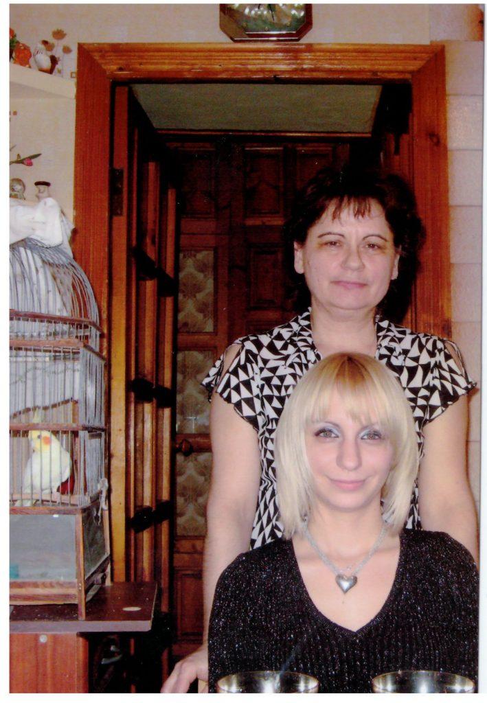 Анна с мамой и кешей