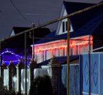 дома сельчан иллюминацией приготовились встречать Новый год