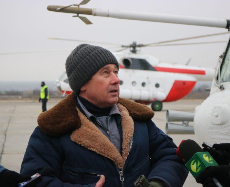 летчик испытатель на летно-испытательном комплексе предприятия «Мотор Сич» Владимир Колесник