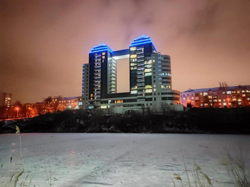 красивые зимние снимки родного ночного города