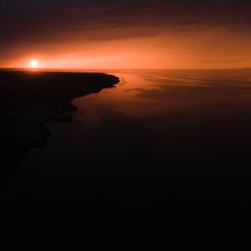 закат на Каховском водохранилище