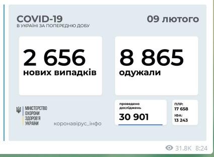В Украине обнаружили более двух тысяч новых случаев коронавируса