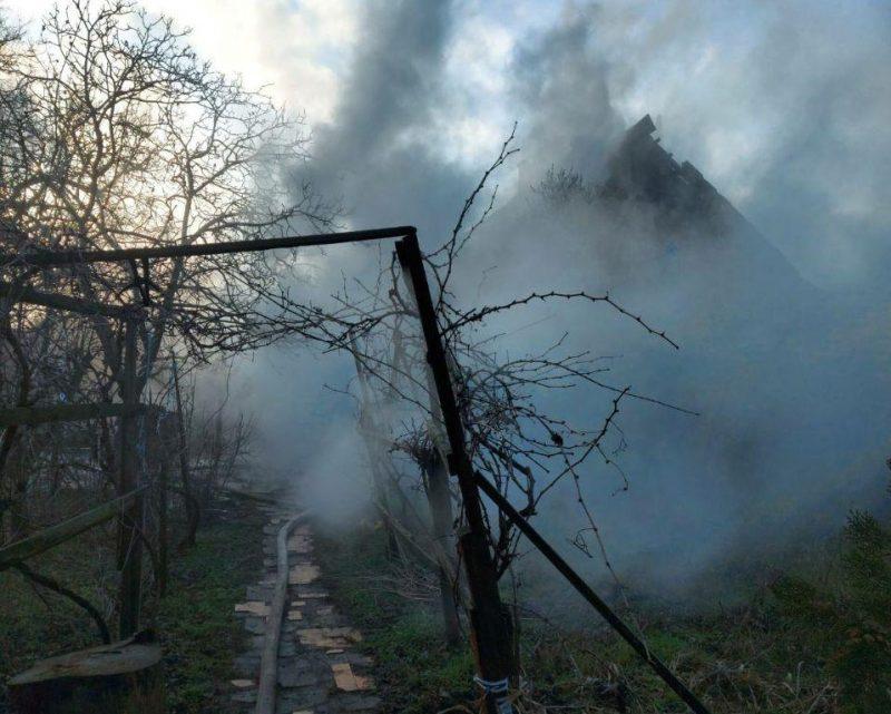 На пожаре в Мелитополе погибла пожилая женщина