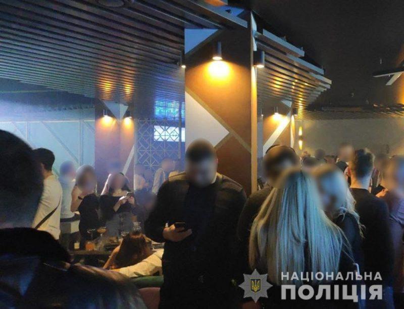 В Запорожье ночной клуб работал несмотря на карантинные ограничения