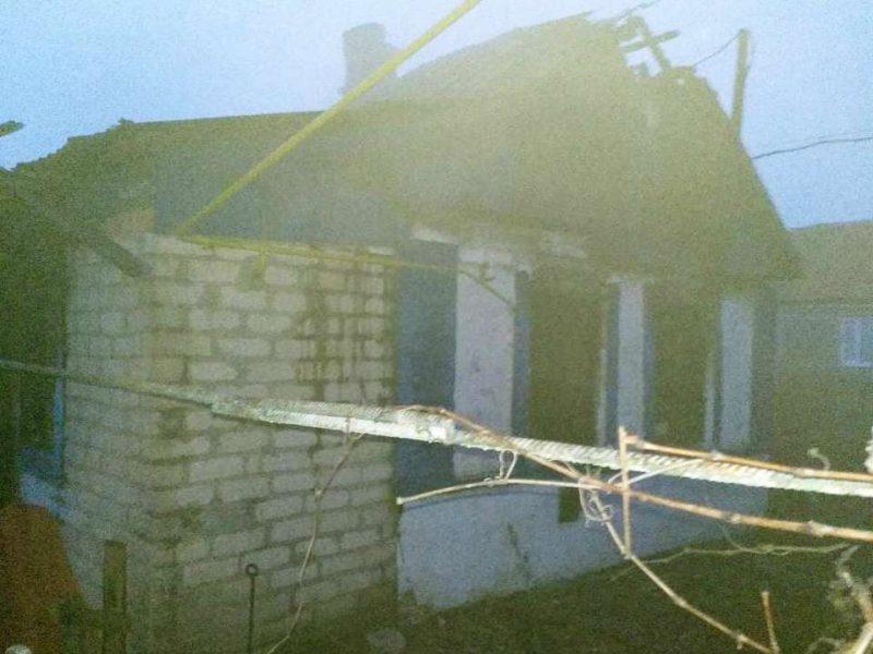 пожар селе Бановка Бердянского района