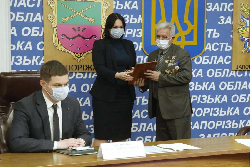 Керівники Запорізької обласної ради провели зустріч із лідерами чорнобильського руху регіону