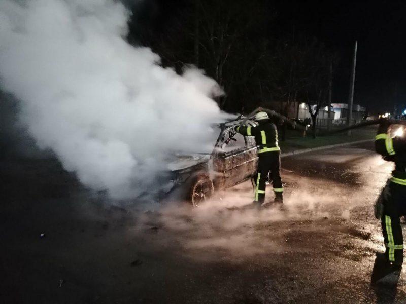 В Мелитополе загорелсяland Rover