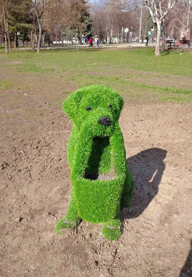 В запорожском парке обновили топиарные фигуры животных