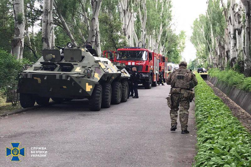 СБУ провела антитеррористические учения на Днепрогэсе