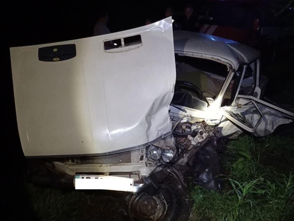 Авария в Запорожской области: пострадавшего пришлось вырезать из покореженной машины (ФОТО)
