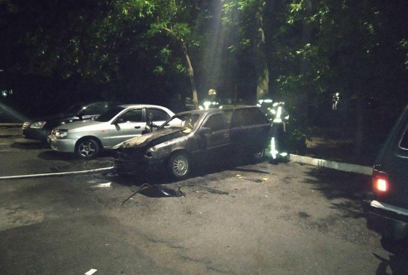 В Запорожской области сгорел автомобиль