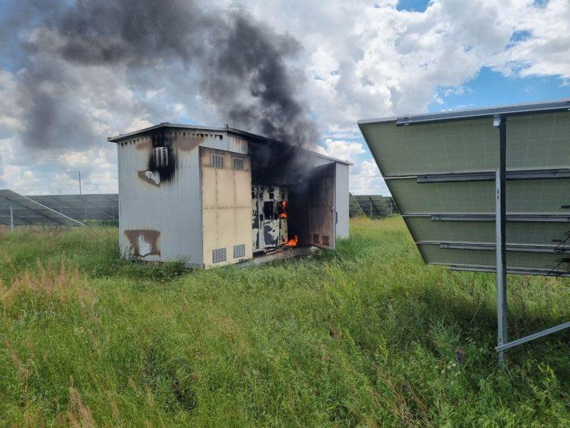 В Запорожской области горела трансформаторная подстанция