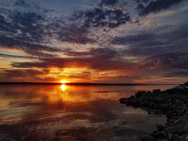 Жительница Запорожья показала волшебный закат - фото
