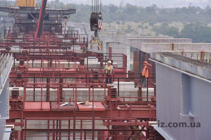 начало строительства балочного моста