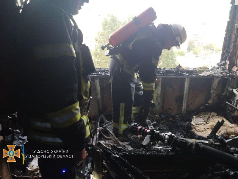 был сильный пожар в девятиэтажке