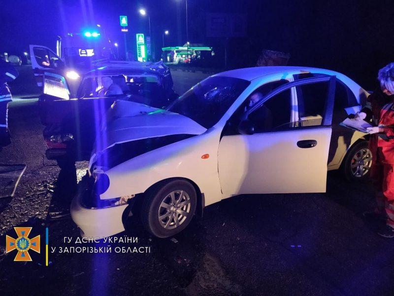 столкнулись два автомобиля - четверо травмированных, из них один ребенок