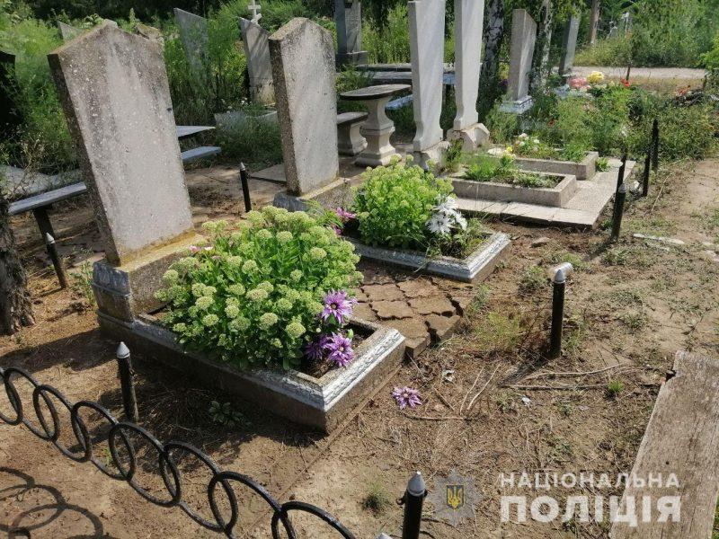 Вандал похищал металлические конструкции ограждений могил